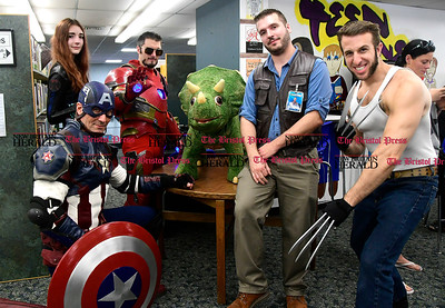 5/6/2017 Mike Orazzi | Staff The Southington Public Library's ComicCon Saturday.