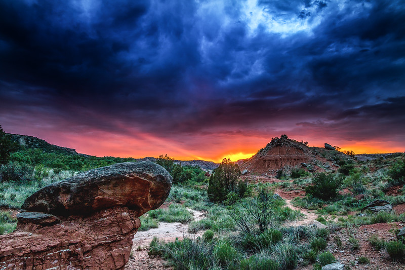 Dramatic Palo Duro Canyon Sunset