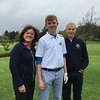 Fred Daly Trophy: Chris Makin with Captains Grace & Kevin