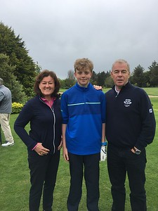 Fred Daly Trophy: Conor Leonard with Captains Grace & Kevin