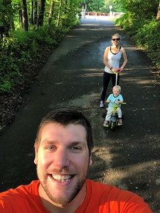 Andrew Powers - Myself, Allie and Drew on the Perkiomen Trail for a walk/ru
