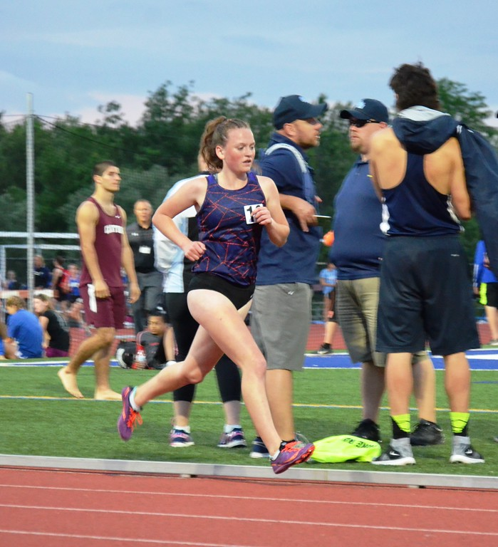 . Vernon-Verona-Sherrill sophomore Delaney Brewer  competes at the New York State Track and Field Qualifiers at Cicero-North Syracuse on Thursday, May 31.
