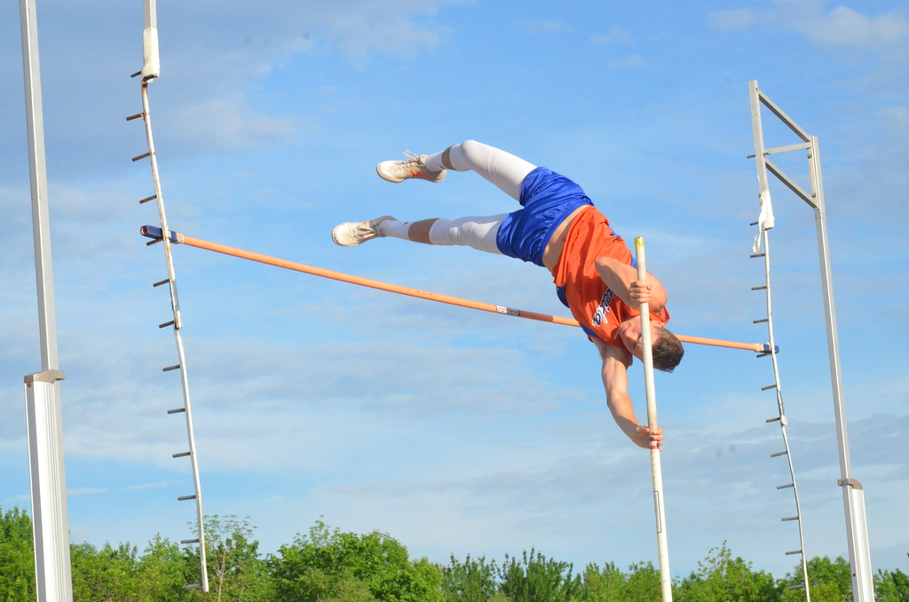 . Oneida sophomore Luke Lombardi competes at the New York State Track and Field Qualifiers at Cicero-North Syracuse on Thursday, May 31.