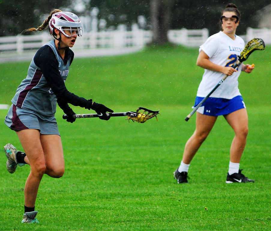 . Clinton junior midfielder Sarah Owens returns the ball after a missed Cazenovia attack Saturday, May 19 at Cazenovia.