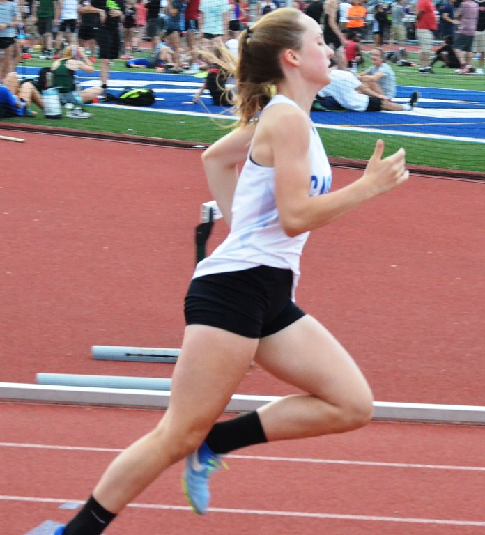 . Camden freshman MacKenzie Mix competes at the New York State Track and Field Qualifiers at Cicero-North Syracuse on Thursday, May 31.