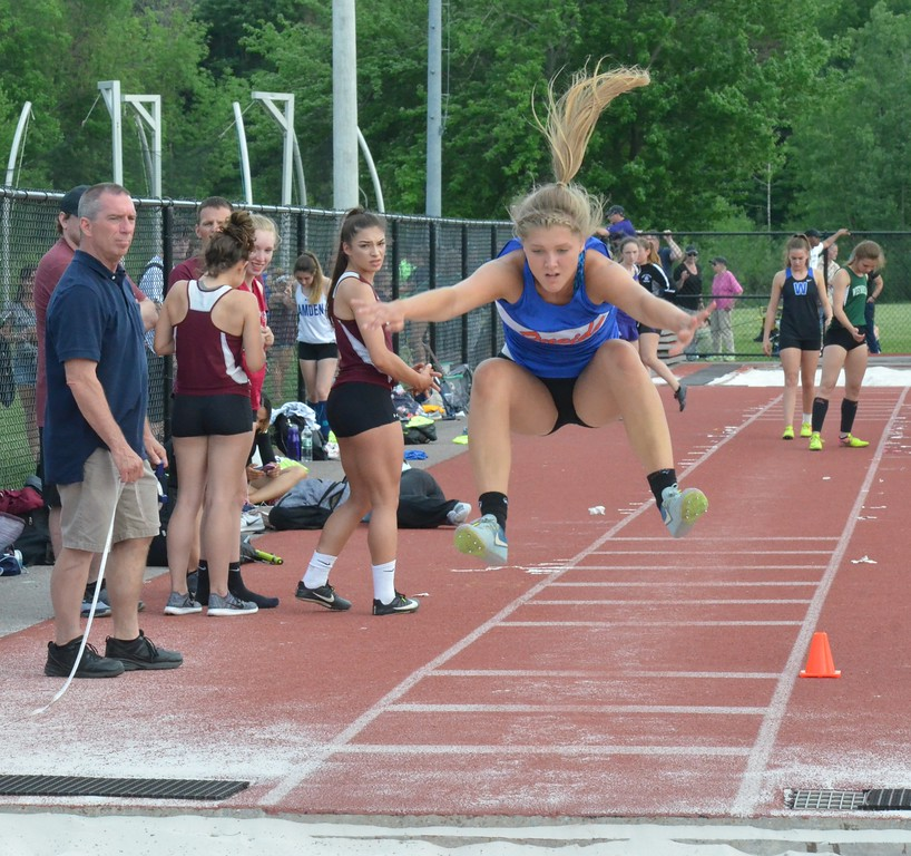 . Oneida senior Julianna Cavanagh competes at the New York State Track and Field Qualifiers at Cicero-North Syracuse on Thursday, May 31.