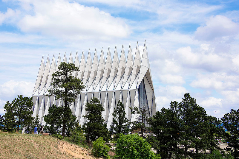 The Cadet Chapel is both the most recognizable building at the United States Air Force Academy and the most visited man-made tourist attraction in Colorado.