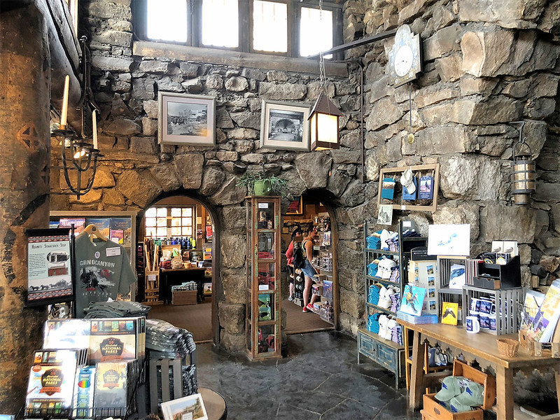 "Hermits Rest has restrooms, a snack bar and the ""rug room,"" where native crafts and souvenirs  are sold"
