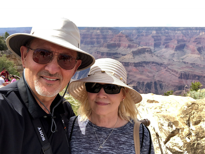 Our Selfie at the South Rim. The South Rim attracts the majority of adventurers – nearly 5 million visitors explore the South Rim's many iconic viewpoints every year! We had a Great time during our visit!!