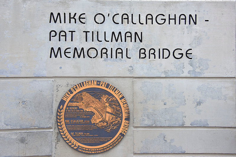 The Hoover Dam observation area is actually on the Mike O'Callaghan - Pat Tillman Memorial Bridge.