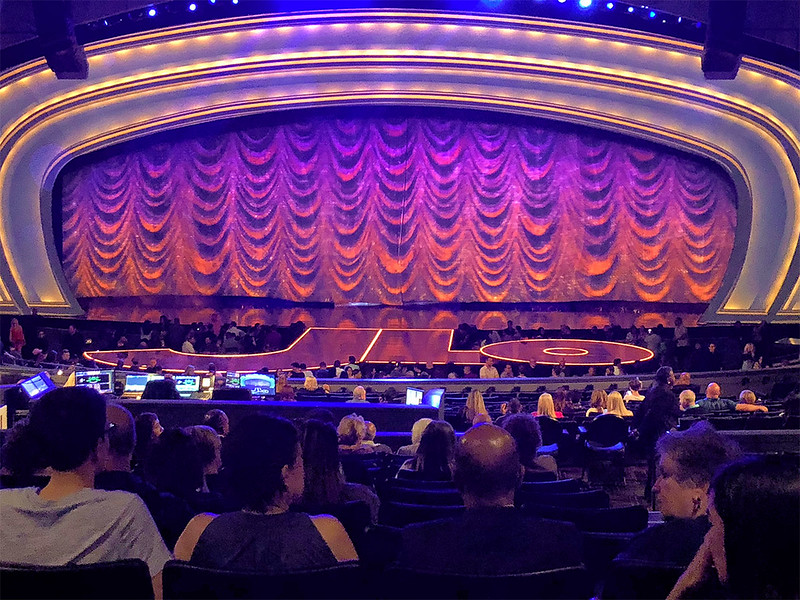 Waiting for the JLo show to start at the Zappos Theater.