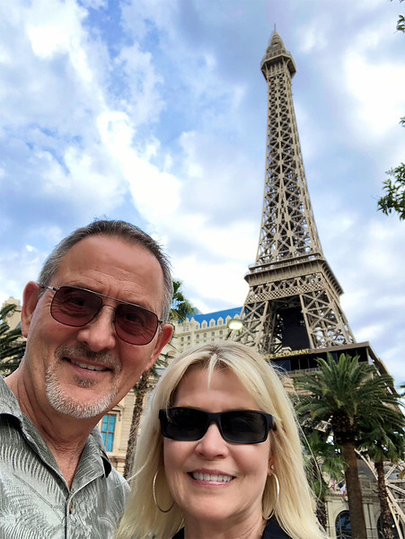 Our Eiffel Tower Selfie. We had a great time in Vegas and managed to not lose too much $$$$$!