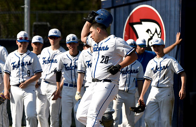 5/1/2018 Mike Orazzi   Staff St. Paul's Ryan Greene (20) after his home run against Seymour Tuesday in Bristol.