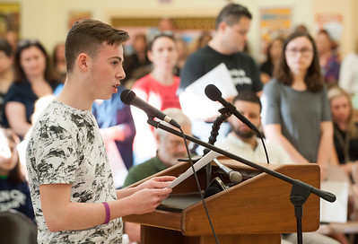 05/21/18  Wesley Bunnell | Staff  A meeting of the New Britain Board of Ed took place to a packed standing room only crowd at Vance School on Monday night regarding recently announced changes for the upcoming 18-19 school year. High School student Nick Giantonio speaks out regarding the plan.