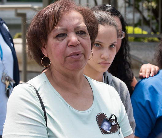 05/23/18 Wesley Bunnell | Staff Alexandra Torres, sister of Angel &quote;Kiki&quote; Colon, speaks to the media outside of New Britain Superior Court on Wednesday afternoon. Jonathan Rafael Soto , 22, of Convoy Drive was arraigned in court for the fatal hit-and-run death of Angel &quote;Kiki&quote; Colon who was struck by a car that fled last Saturday afternoon.