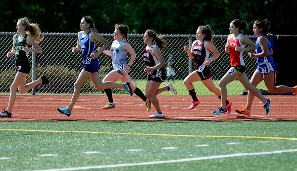 5/23/2018 Mike Orazzi | Staff The girls 1600 meter during the CCC Track & Field Championships held at Bristol Eastern High School Wednesday.