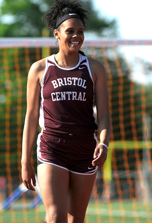 5/23/2018 Mike Orazzi | Staff Bristol Central High School's Shy-Ann Whitten during the CCC Track & Field Championships held at Bristol Eastern High School Wednesday.