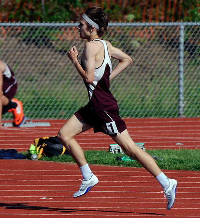 5/23/2018 Mike Orazzi | Staff Bristol Central High School's Mark Petrosky during the CCC Track & Field Championships held at Bristol Eastern High School Wednesday.