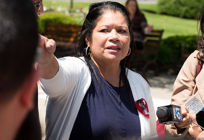 "05/23/18  Wesley Bunnell | Staff  The niece of Angel ""Kiki"" Colon Victoria Lays speaks to the media outside of New Britain Superior Court on Wednesday afternoon. Jonathan Rafael Soto , 22, of Convoy Drive was arraigned in court for the fatal hit-and-run death of Angel ""Kiki"" Colon who was struck by a car that fled last Saturday afternoon."