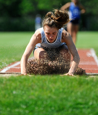 5/23/2018 Mike Orazzi | Staff Middletown High School Mackenzie Dunn during the CCC Track & Field Championships held at Bristol Eastern High School Wednesday.