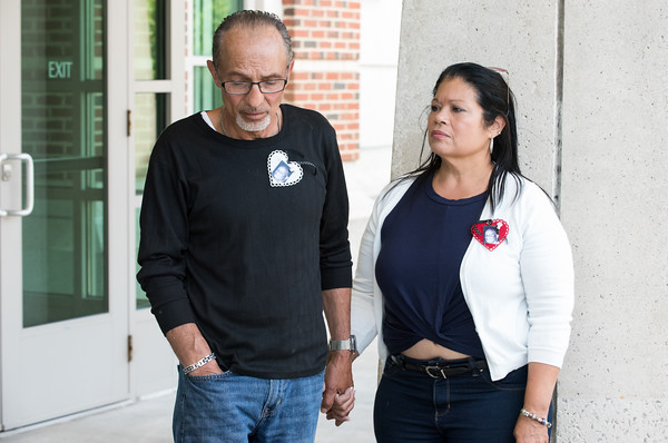 05/23/18 Wesley Bunnell | Staff Family members of Angel &quote;Kiki&quote; Colon including nice Victoria Lays wait outside of New Britain Superior Court. Jonathan Rafael Soto , 22, of Convoy Drive was arraigned in court on Wednesday at noon for the fatal hit-and-run death of Angel &quote;Kiki&quote; Colon who was struck by a car that fled last Saturday afternoon.