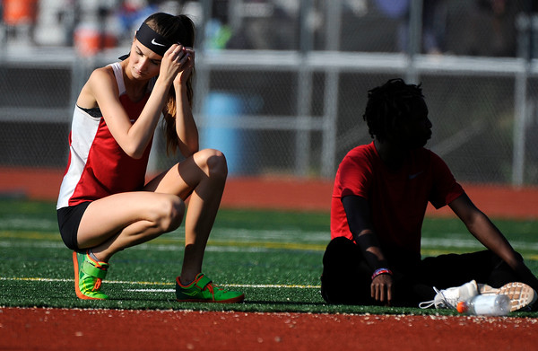 5/23/2018 Mike Orazzi | Staff Berlin High School's Patricia Mroczkowskii during the CCC Track & Field Championships held at Bristol Eastern High School Wednesday.