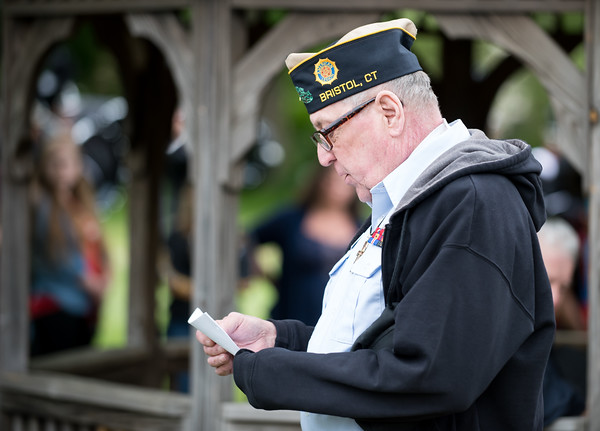 05/28/18 Wesley Bunnell | Staff Bristol held its second Memorial Day Parade on Monday morning starting near Race & North Main St and ending on Memorial Blvd with a ceremony. An opening prayer was given by Chaplain Lenny Webster from American Legion Post 2.