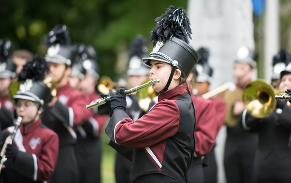 05/28/18 Wesley Bunnell | Staff Bristol held its second Memorial Day Parade on Monday morning starting near Race & North Main St and ending on Memorial Blvd with a ceremony. The Bristol Central High School Band.