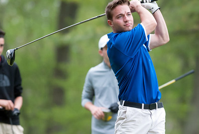 05/10/18  Wesley Bunnell | Staff  New Britain golf defeated Bristol Eastern 212-219 at Stanley Golf Course on Thursday afternoon. Bristol Eastern's Brendan McMahon on the tee.