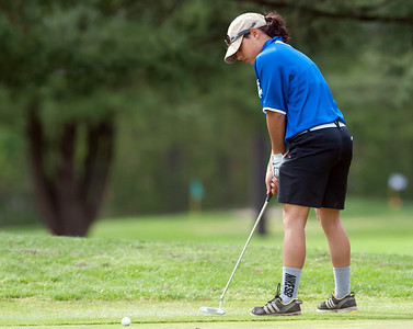 05/10/18  Wesley Bunnell | Staff  New Britain golf defeated Bristol Eastern 212-219 at Stanley Golf Course on Thursday afternoon. Bristol Eastern's Kelsey Wrybek.