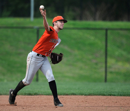 5/11/2018 Mike Orazzi | Staff Terryville's Riley Zappone (6) Friday at THS.