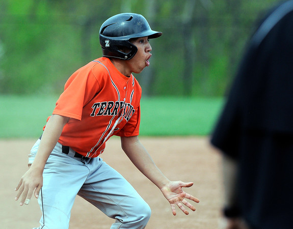 5/11/2018 Mike Orazzi | Staff Terryville's Albert Molina (1) Friday at THS.