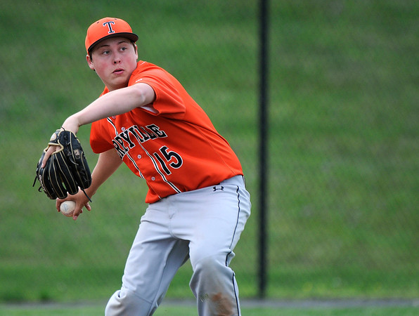 5/11/2018 Mike Orazzi | Staff Terryville's Nicholas Ieronimo (15) Friday at THS.