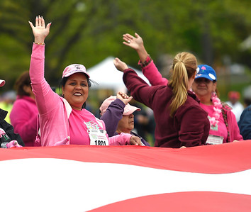 5/12/2018 Mike Orazzi | Staff Survivor Yolonda Morales during the CT Race in The Park Saturday morning in New Britain's Walnut HIll Park.