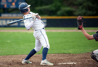 05/16/18  Wesley Bunnell | Staff  Newington baseball defeated E.C. Goodwin Tech on Wednesday afternoon at Newington High School. Cooper Johnson (3) bends out of the way of a high pitch.