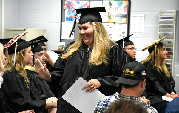 5/16/2018 Mike Orazzi | Staff Crystal Chute at the 2018 Bristol Adult Education Graduation Wednesday night held at the Bristol Adult Education Center.