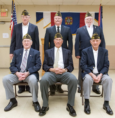 05/16/18 Wesley Bunnell | Staff The Berlin VFW 10732 held their installation of officers on Wednesday May 16th. Newly appointed officers include Sam D'Amato, seated L, Bill Hamel filling in for the commander, Tom Lasker. Dave Kloskowski, standing L, Ron Levandowsky and Kerry Sheridan.