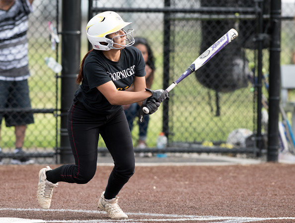 05/17/18 Wesley Bunnell   Staff New Britain softball defeated Wethersfield on Thursday afternoon at Chesley Park. Cristina Velaquez (3).