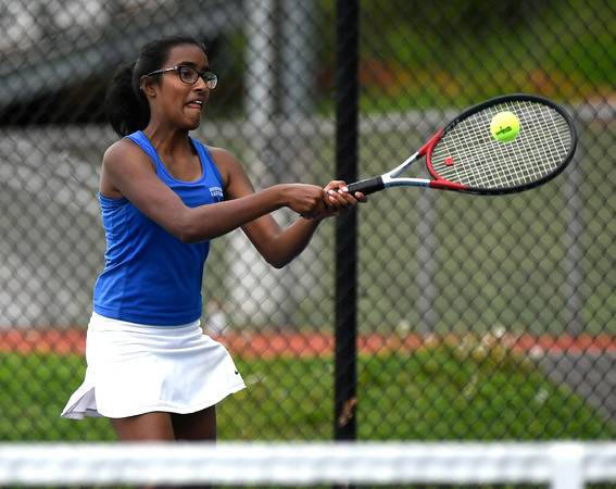 5/17/2018 Mike Orazzi   Staff Bristol Eastern's Amy Bhagaloo during Thursday's tennis match.