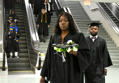 5/19/2018 Mike Orazzi | Staff CCSU grads to be while at the XL Center for the CCSU commencement ceremony Saturday in Hartford.