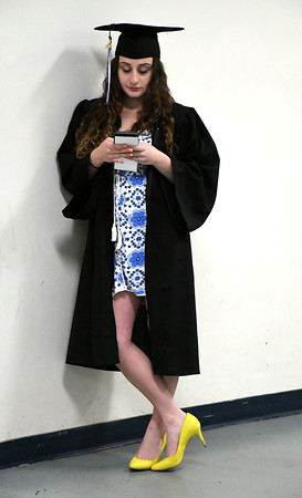 5/19/2018 Mike Orazzi   Staff Taylor Carfiro while at the XL Center for the CCSU commencement ceremony Saturday in Hartford.