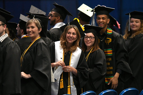 5/19/2018 Mike Orazzi | Staff The CCSU commencement ceremony Saturday in Hartford.