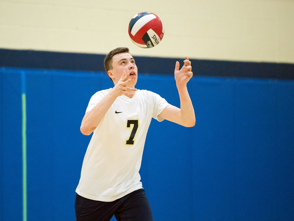 05/22/18 Wesley Bunnell | Staff Newington volleyball in action in the CCC Quarterfinal Tuesday afternoon.