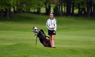 5/22/2018 Mike Orazzi | Staff St. Paul's Natalie Millerick during Tuesday's golf match at Chippanee Golf Club in Bristol.
