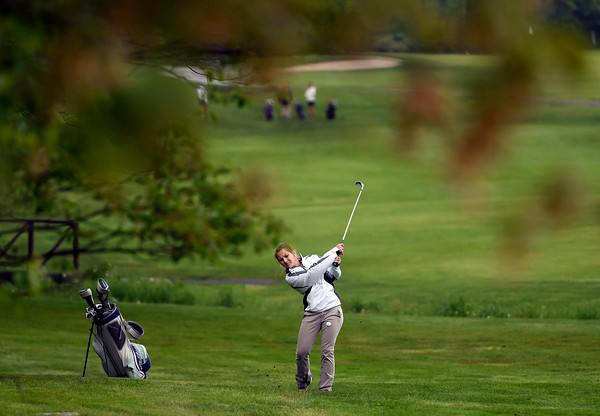 5/22/2018 Mike Orazzi | Staff St. Paul's Sarah Richardson during Tuesday's golf match at Chippanee Golf Club in Bristol.