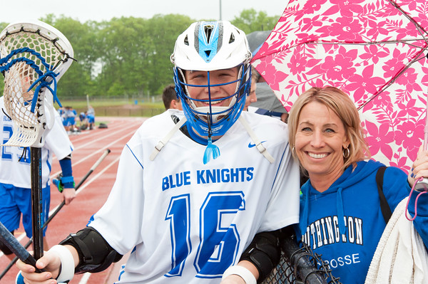 05/22/18 Wesley Bunnell | Staff Southington lacrosse had their season ended with a loss to Glastonbury on Tuesday afternoon at Southington High School. Brett Wolf (16) and mom Kim Wolff.