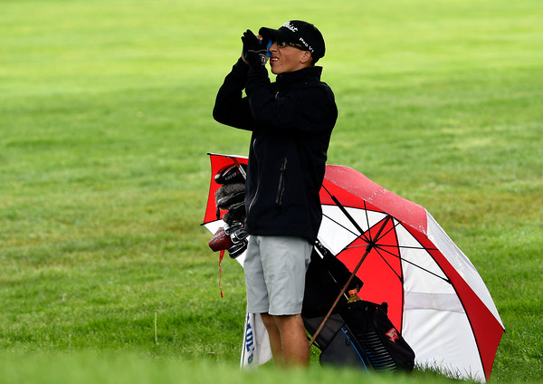 5/22/2018 Mike Orazzi | Staff St. Paul's Ryne Salius during Tuesday's golf match at Chippanee Golf Club in Bristol.