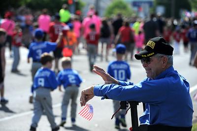 5/26/2018 Mike Orazzi | Staff Army Ranger Ralph Borriello,90, during the Berlin Memorial Day Parade on Saturday along Farmington Avenue.