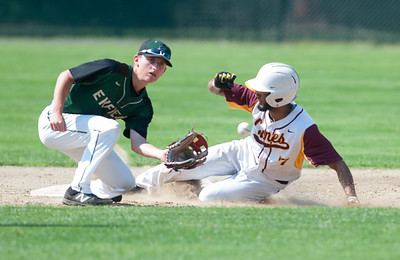 05/30/18  Wesley Bunnell | Staff  New Britain baseball defeated Enfield 4-3 with a walk off bases loaded single in the bottom of the 7th in a first round CIAC Class LL tournament game. Josh Garcia (7) with a steal of 2nd base.