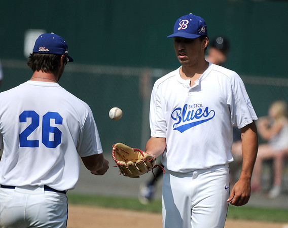 6/15/2017 Mike Orazzi | Staff Bristol Blues' Nick Rubino (14) Thursday at Muzzy Field.